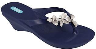 OKA b. Oka-B Orchid Flower Wedge Sandals - Myrtle
