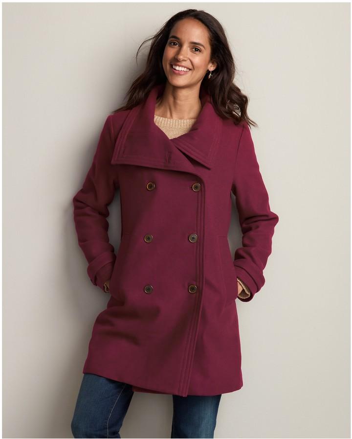 Eddie Bauer Christine Long Wool-Blend Coat