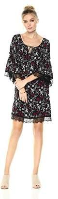 Ella Moon Women's Adriel Long Sleeve Lace Trim Dress