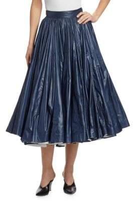 Calvin Klein Shiny Nylon A-Line Skirt