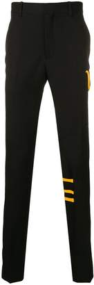 Calvin Klein stripe-trim trousers