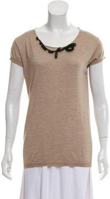Marni Cashmere & Silk Short Sleeve Top