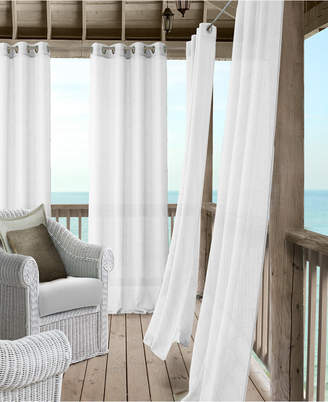 "Elrene Bali Sheer 52"" x 108"" Indoor/Outdoor Curtain Panel with Tieback"