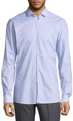 HUGO BOSS Nailhead Cotton Casual Button-Down Shirt
