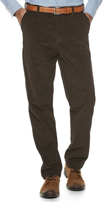 Croft & Barrow Men's Big & Tall Classic-Fit Easy-Care Stretch Flat Front Corduroy Pants