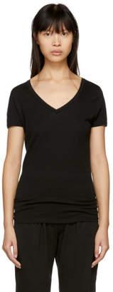 Skin Black Easy V-Neck T-Shirt
