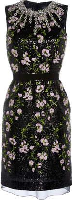 Giambattista Valli Fitted Floral Embroidered Mini Dress