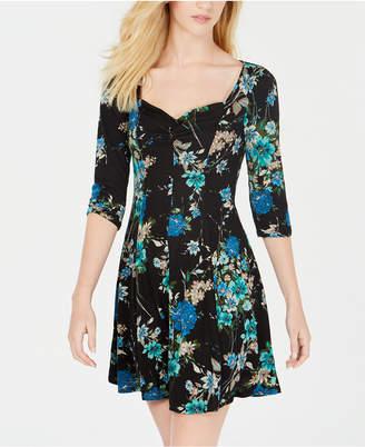 Be Bop Juniors' Floral Sweetheart A-Line Dress