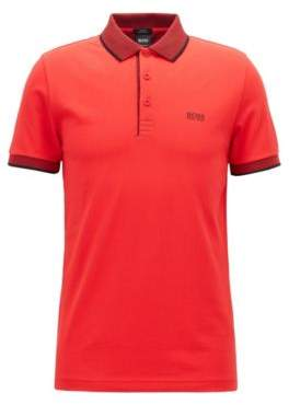 BOSS Hugo Slim-fit polo shirt in Pima cotton pique XXXL Open Red