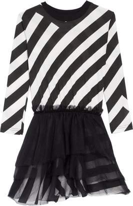 Nununu Stripe Tulle Dress