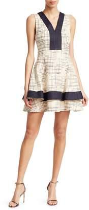 Derek Lam V-Neck Fit-&-Flare Dress