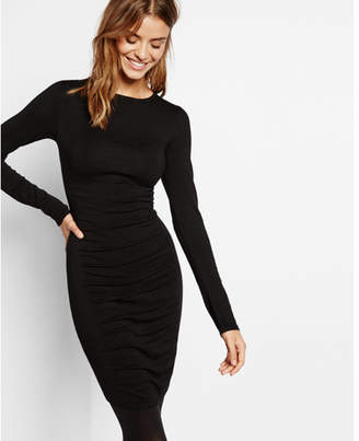 Express ruched sweater dress $69.90 thestylecure.com