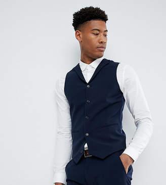 Asos Design DESIGN Tall super skinny fit suit waistcoat in navy