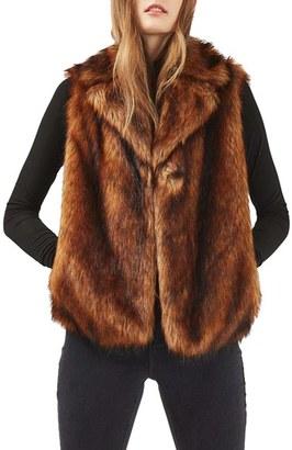 Women's Topshop Faux Fur Vest $125 thestylecure.com