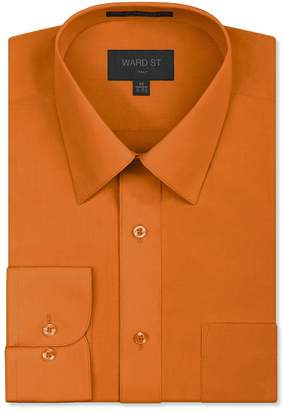 Ward St Men's Regular Fit Dress Shirts, Large, 16-16.5N 32/33S
