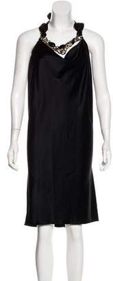Ranjana Khan Silk Knee-Length Dress