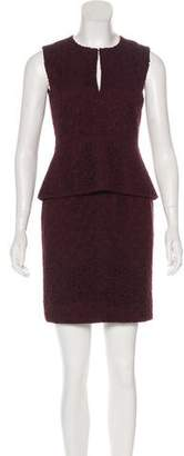 Diane von Furstenberg Scoop Neck Mini Dress