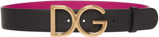 Dolce & Gabbana Dauphine Embellished Textured-Leather Belt