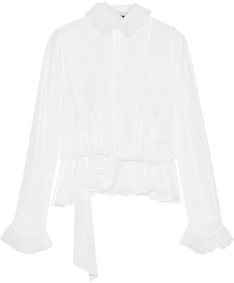 Maison Margiela - Ruffle Layered Cotton-blend Tulle Top - White $2,280 thestylecure.com