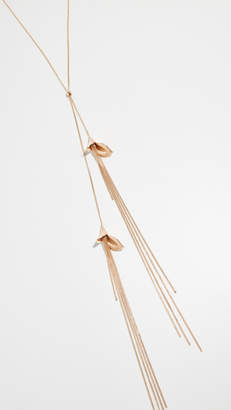 Zimmermann Orchid Lariat Necklace