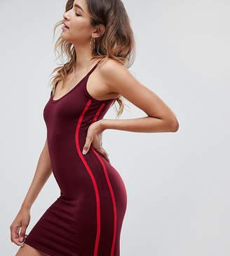 Missguided Contrast Stripe Bodycon Mini Dress