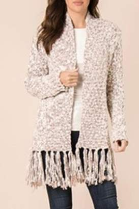 Simply Noelle Fringed & Heathered Cardigan