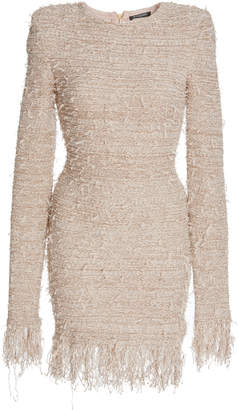 Balmain Fringed Boucle Mini Dress
