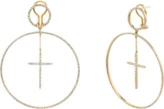 Shay Jewelry Cross Hoops