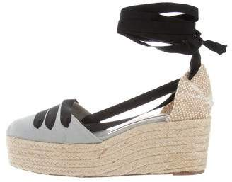 Rochas Canvas Platform Wedges