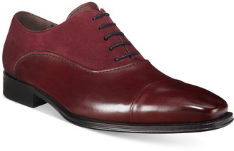 Mezlan Men's Arlington Mixed-Media Cap-Toe Oxfords, Only at Macy's $275 thestylecure.com