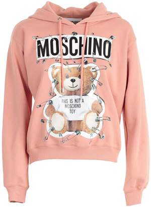 Moschino Safety Pin & Teddy Bear Print Hoodie