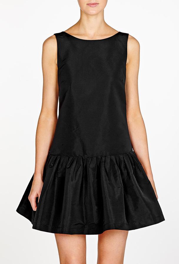RED Valentino Black Dropped Waist Dress
