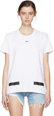 Off-White SSENSE Exclusive White Diagonal Tulips T-Shirt $315 thestylecure.com