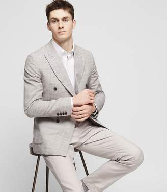 Reiss REGGIE DOUBLE-BREASTED BLAZER Light Grey