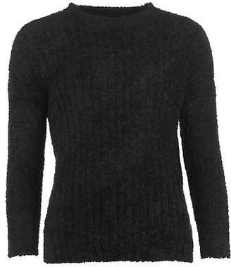 Lee Cooper Womens Crew Neck Knit Jumper Sweater Pullover Long Sleeve Warm