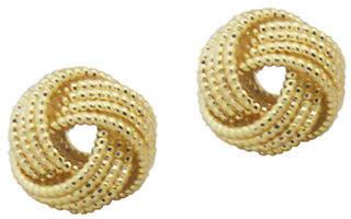 Nine West Gold Tone Mesh Knot Stud Earring