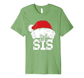 Lil Sis | Santa Hat Christmas Matching Family Pajama