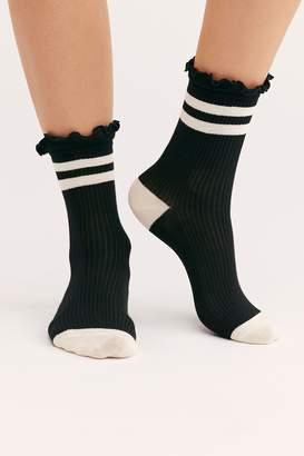 Ruffle Sport Stripe Socks