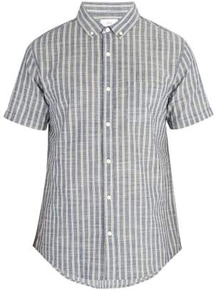 Onia Jack Cotton Shirt - Mens - Blue White