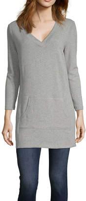 Liz Claiborne Weekend Kanga Pocket Tunic - Tall