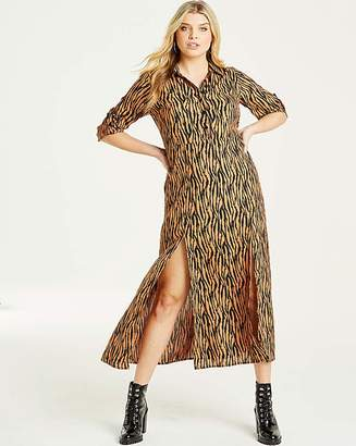 fe4636f2d020 AX Paris Zebra Print Long Shirt Dress