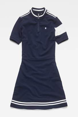 Next Womens G-Star Blue Cergy Zip Slim Short Sleeve Dress