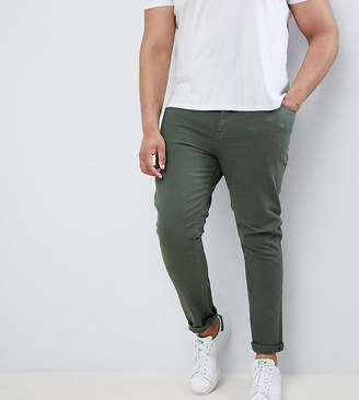Asos DESIGN Plus skinny jeans in green