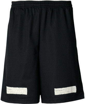 Off-White graphic print shorts $252 thestylecure.com