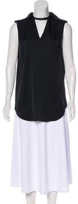 3.1 Phillip Lim Buckle-Accented Sleeveless Top