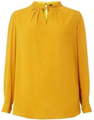 Dorothy Perkins Womens **Dp Curve Mustard 'Emily' Twist Neck Blouse