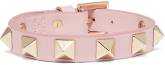 Valentino - Rockstud Leather Bracelet - Baby pink $175 thestylecure.com