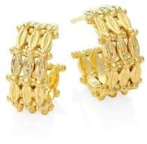 Temple St. Clair Vigna 18K Yellow Gold Hoop Earrings/0.45""