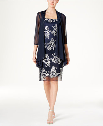 R & M Richards Floral-Embroidered Dress and Jacket $109 thestylecure.com