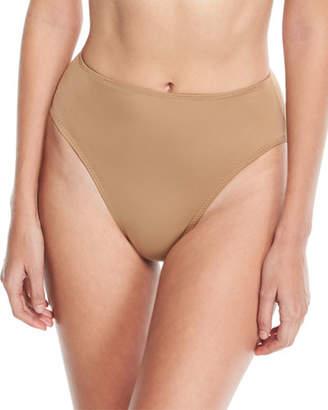 Norma Kamali Underwire High-Waist High-Cut Swim Bikini Bottoms